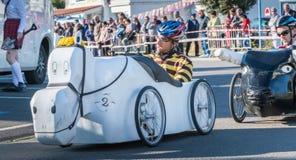 Carro do pedal dos motoristas para uma raça tradicional Fotos de Stock
