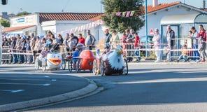 Carro do pedal dos motoristas para uma raça tradicional Imagens de Stock