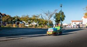 Carro do pedal dos motoristas para uma raça tradicional Imagens de Stock Royalty Free