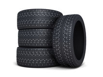 Carro do pneu do inverno Fotografia de Stock