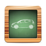 Carro do quadro-negro Foto de Stock Royalty Free
