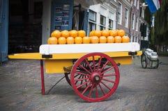 Carro do queijo Fotografia de Stock Royalty Free