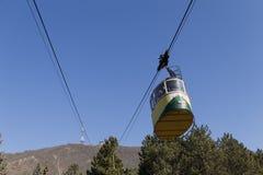 Carro do Ropeway na montanha Mashuk Imagem de Stock