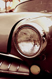 Carro do sepia do vintage no close-up imagem de stock royalty free