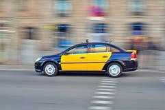 Carro do táxi, Barcelona Fotografia de Stock Royalty Free