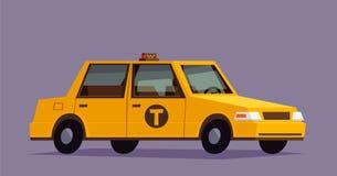 Carro do táxi Ilustração denominada lisa Imagens de Stock