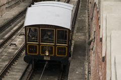 Carro do teleférico de Gellert Fotografia de Stock Royalty Free