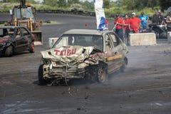 Carro do vencedor do derby da demolição Imagens de Stock Royalty Free