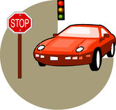 Carro do vermelho da ilustração Fotografia de Stock