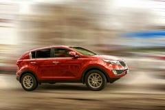 Carro do vermelho de KIA Imagens de Stock