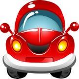 Carro do vermelho dos desenhos animados Foto de Stock Royalty Free