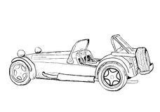 Carro do vintage. Ilustração Stock