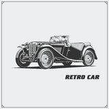Carro do vintage Carro retro Emblema clássico do carro Imagem de Stock