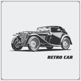 Carro do vintage Carro retro Emblema clássico do carro Fotos de Stock Royalty Free