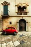 Carro do vintage Cena italiana velha foto de stock royalty free