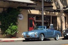 Carro 1958 do vintage de Volkswagen Karmann Ghia do azul Imagem de Stock
