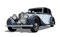 Carro do vintage do vetor ilustração royalty free