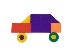 Carro dos blocos plásticos Imagem de Stock Royalty Free