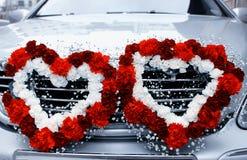 Carro dos casamentos Fotografia de Stock Royalty Free