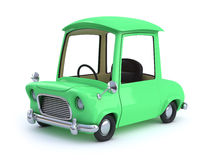 carro dos desenhos animados do verde 3d Foto de Stock Royalty Free