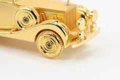Carro dourado Fotos de Stock Royalty Free