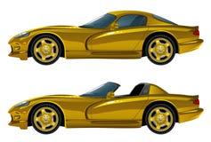 Carro dourado Foto de Stock