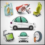 Carro e acessórios ilustração stock