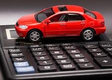 Carro e calculadora Imagem de Stock Royalty Free