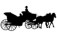 Carro e cavalos Imagem de Stock Royalty Free