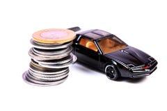 Carro e dinheiro Imagem de Stock
