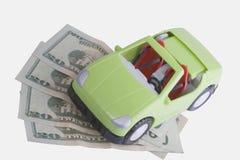 Carro e dinheiro Imagens de Stock