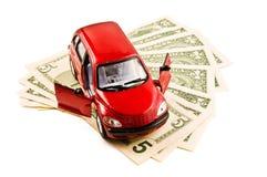 Carro e dinheiro Imagem de Stock Royalty Free