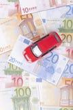 Carro e dinheiro foto de stock