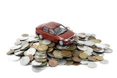 Carro e dinheiro Fotos de Stock