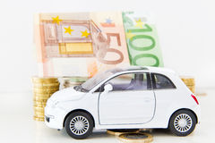 Carro e euro Foto de Stock