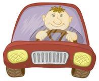 Carro e excitador ilustração royalty free