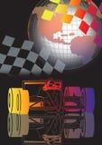 carro e globo Ilustração do Vetor