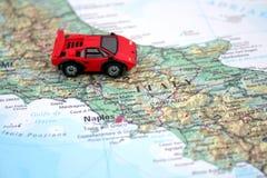 Carro e mapa Fotos de Stock