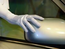 Carro e modelo Fotos de Stock Royalty Free