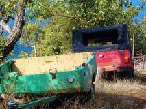 Carro e reboque abandonados Imagens de Stock