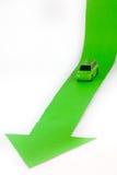 Carro e seta Imagens de Stock