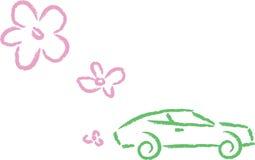 Carro ecológico ilustração do vetor