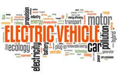 Carro elétrico cobrando ilustração stock