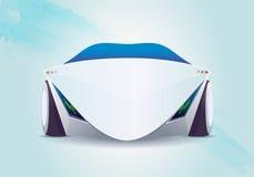Carro elétrico cobrando Imagem de Stock Royalty Free