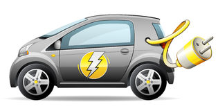 Carro elétrico compacto ilustração do vetor