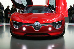 Carro elétrico de Renault DeZir na mostra de motor de Paris Imagens de Stock