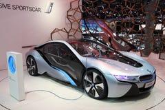 Carro elétrico i8 do conceito de BMW Foto de Stock Royalty Free