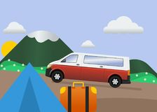 Carro em férias Imagem de Stock