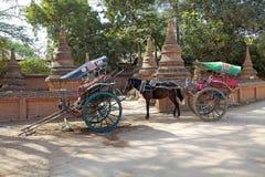 Carro en Bagan Myanmar Fotos de archivo libres de regalías
