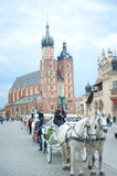Carro en Kraków Foto de archivo